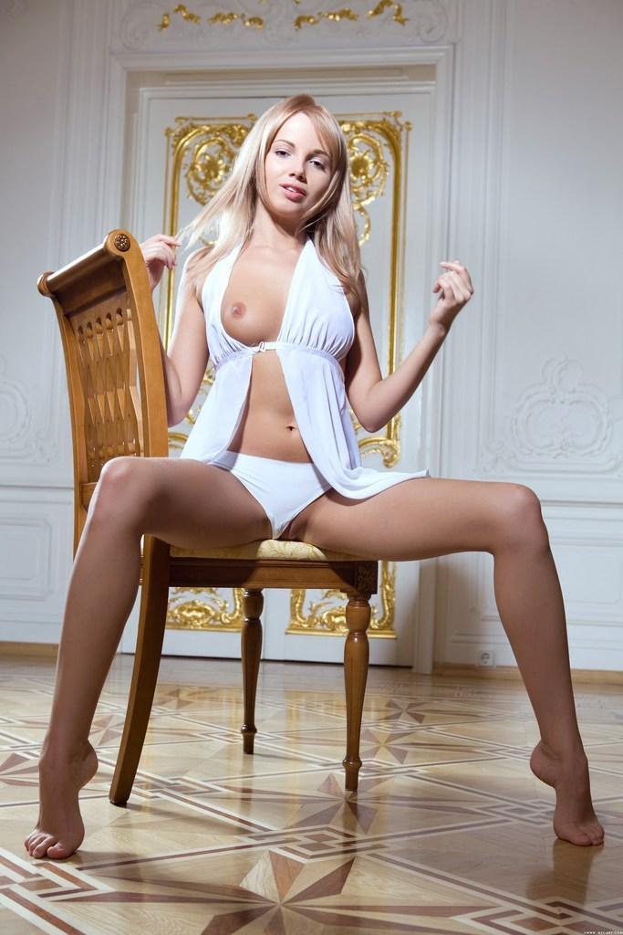 Gorgeous young girl in white - Michaela A - 4
