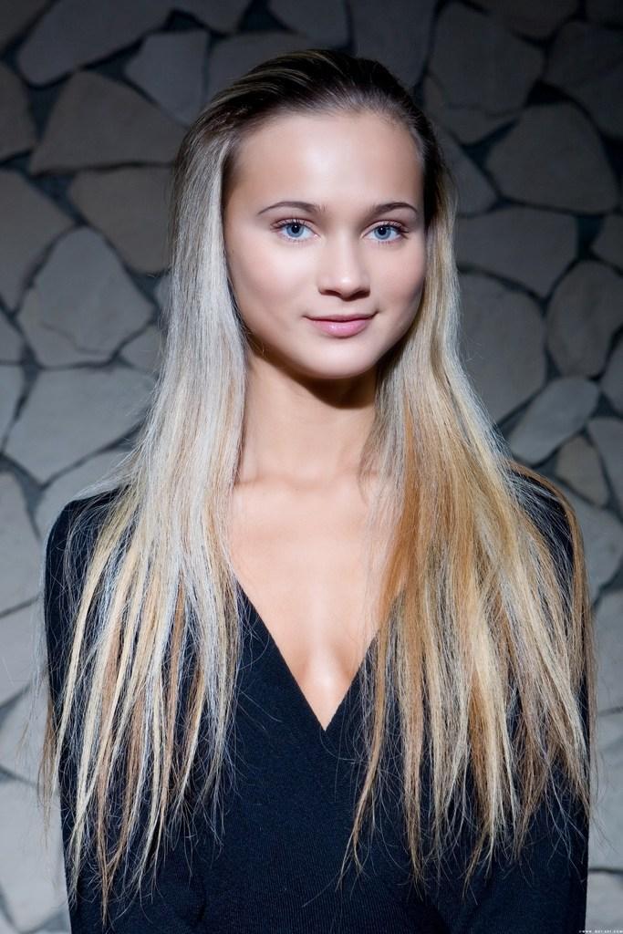 Wonderful blue-eyed blonde shows young body - Carol A - 1
