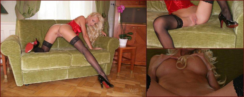 Very hot blonde in sexy lingerie - Victoria Cruz - 47