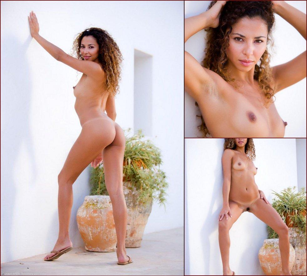Crazy Latina is posing naked in the sunlight - Mara - 53