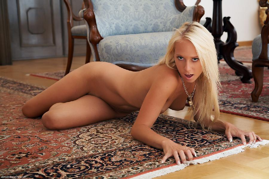 Completely naked blonde shows sweet body - Zana - 2