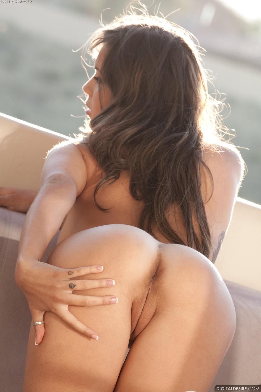 Sensual Nina James shows her tight pussy - 21