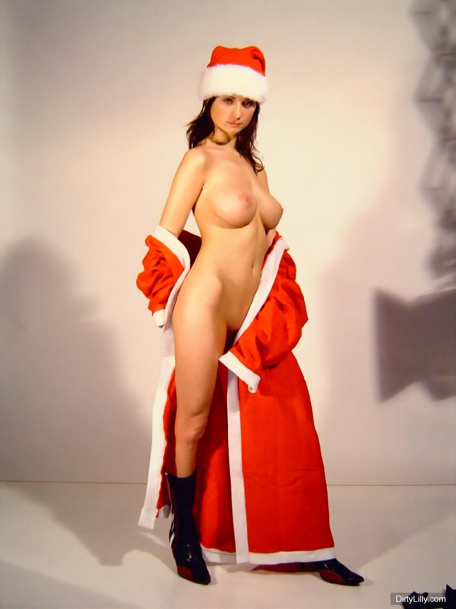 Naked fake santa claus naked babe