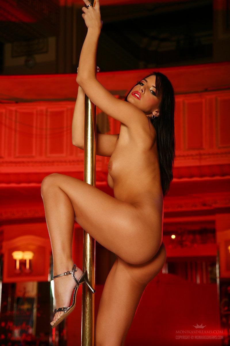Sexy Monika Vesela shows her naked pole dance - 12