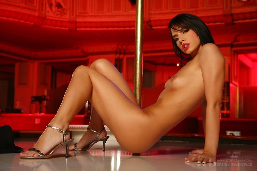 Sexy Monika Vesela shows her naked pole dance - 23