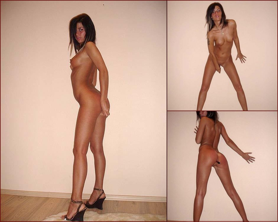 Sexy tanned chick, who likes anal double penetration - 62