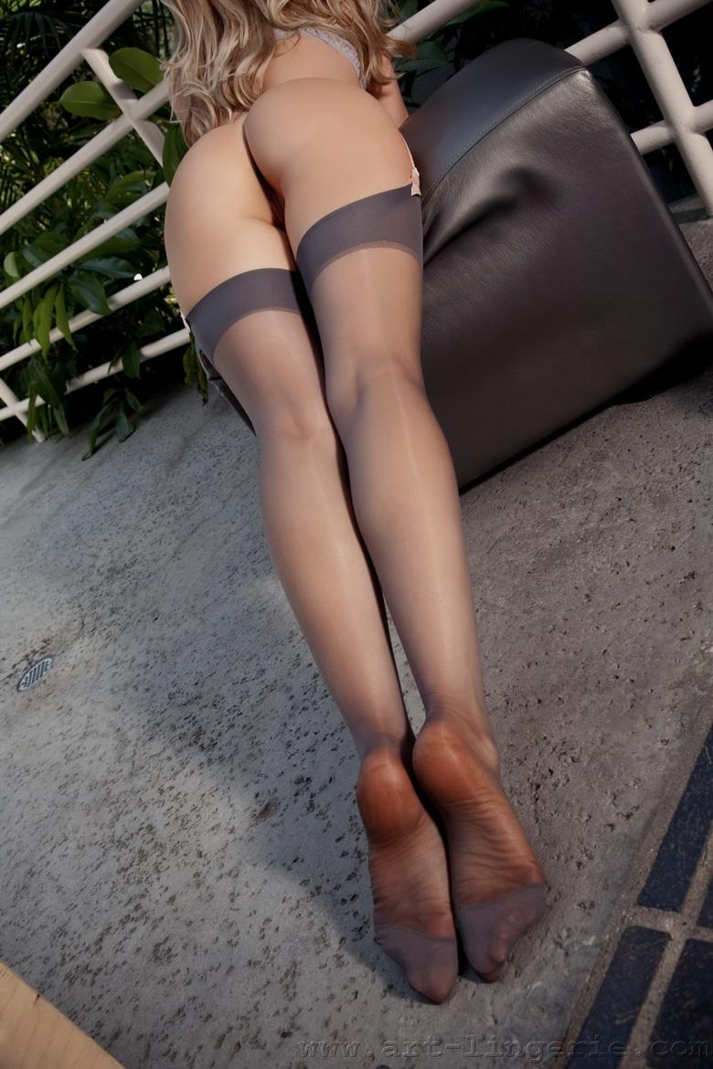 Very hot Carli in sexy black stockings - 12