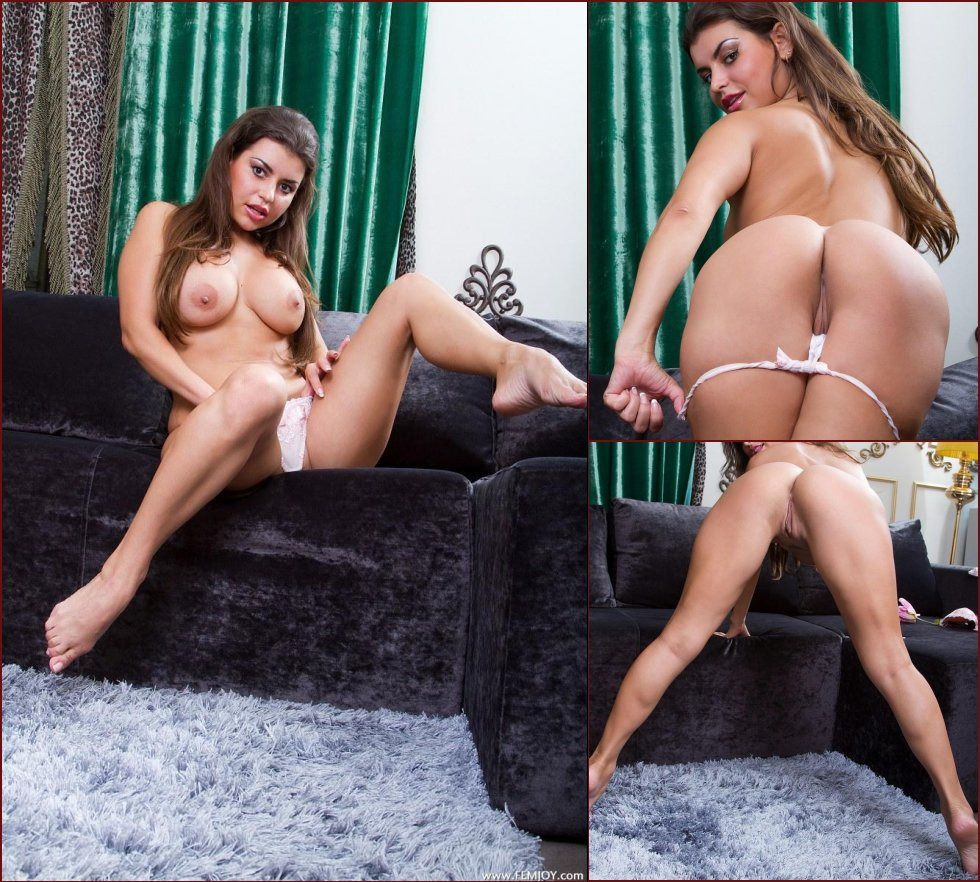 Magnificent girl shows her sexy body on sofa - Milena E - 37