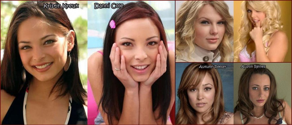 Famous celebs and their pornstars counterparts - 73