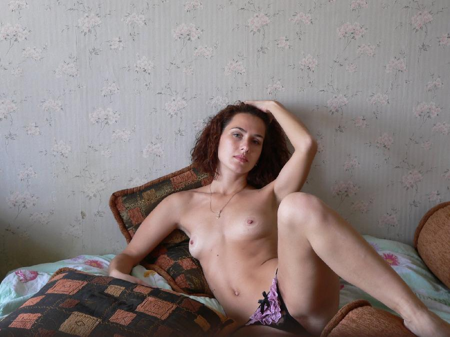 Horny amateur Lena is spreading her legs - 4
