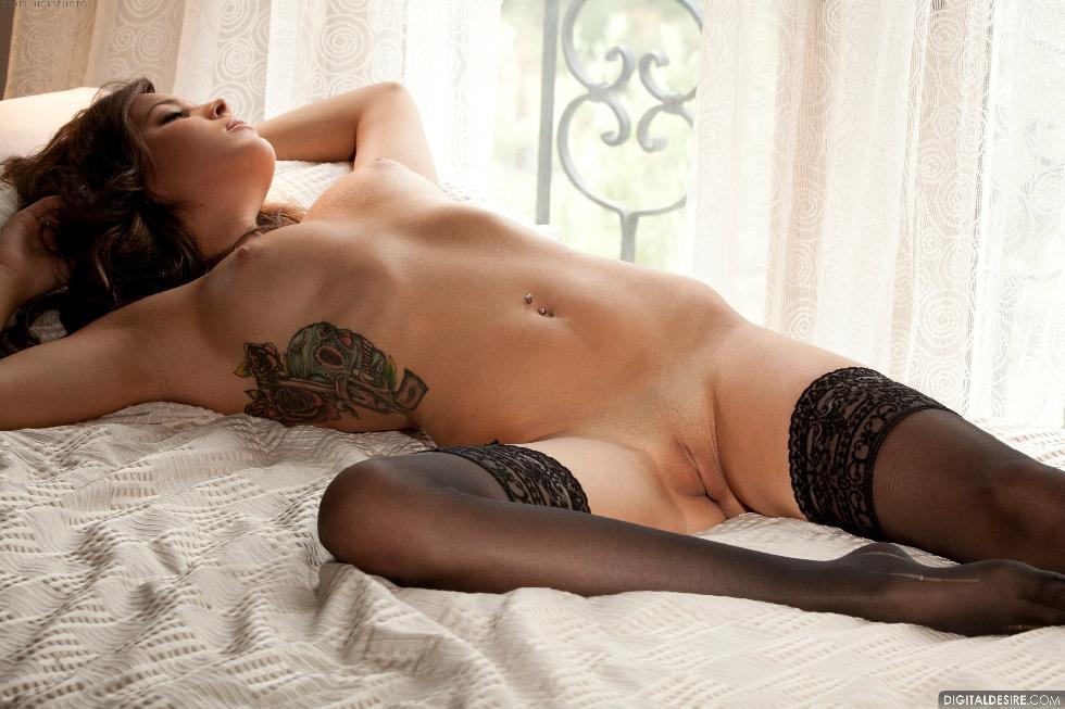 Lustful Nina James i black stockings. Part 1 - 15