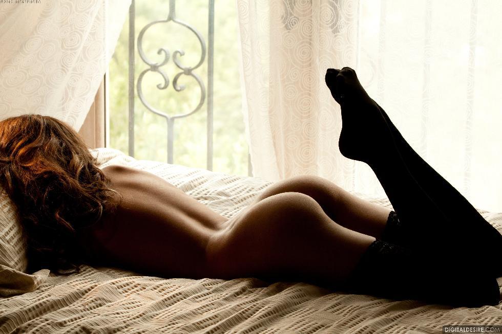 Lustful Nina James i black stockings. Part 1 - 18