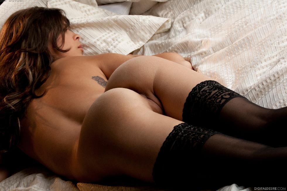 Lustful Nina James i black stockings. Part 1 - 19