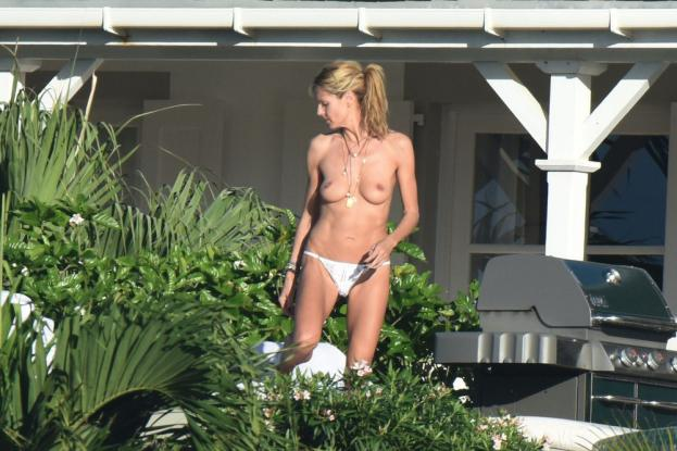 41 years old Heidi Klum topless - 1