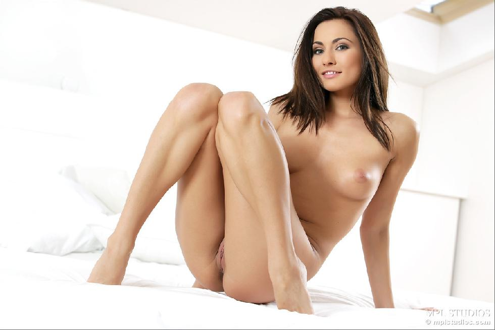 Fantastic chick alone on bed - Michaela Isizzu - 10