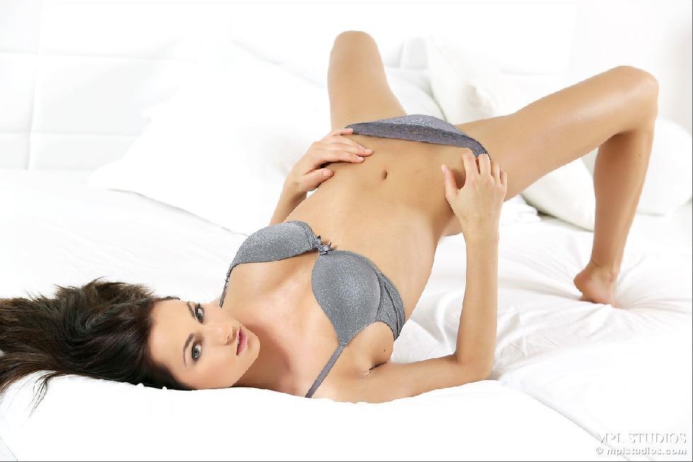 Fantastic chick alone on bed - Michaela Isizzu - 2
