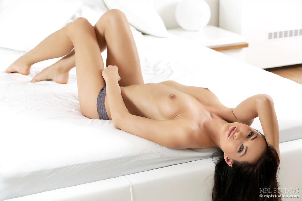Fantastic chick alone on bed - Michaela Isizzu - 3