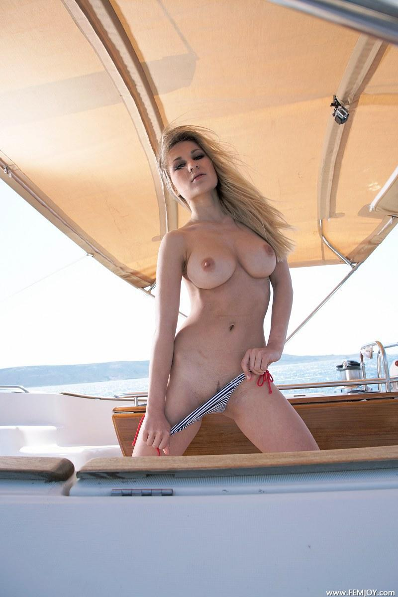 Nude blondes on boats you