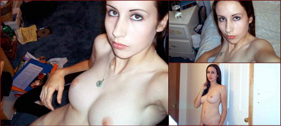 Amateur shows pussy and nice tits - 20