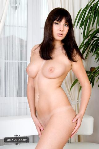 Marvelous Naked Brunette On White Sofa Connie Carter 15 Pics Pdpeps Interior Chair Design Pdpepsorg