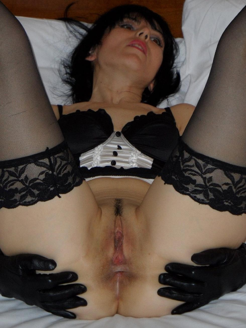 Sexy wife is spreading legs on bed - Sharon - 9