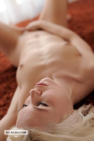 Naked blonde chick is ready and horny - Melanie
