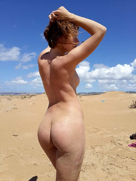 Naked amateur on the beach - 2