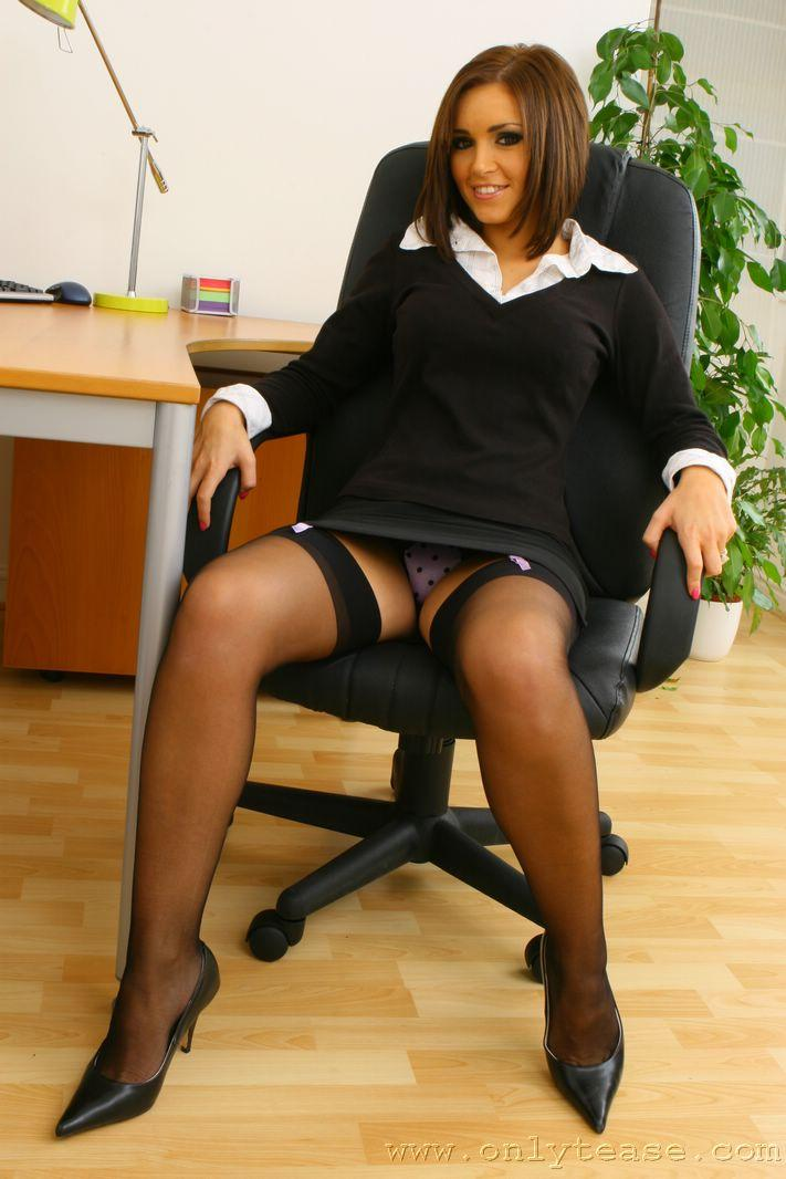 The hottest secretary in the office - Gemma Massey - 1