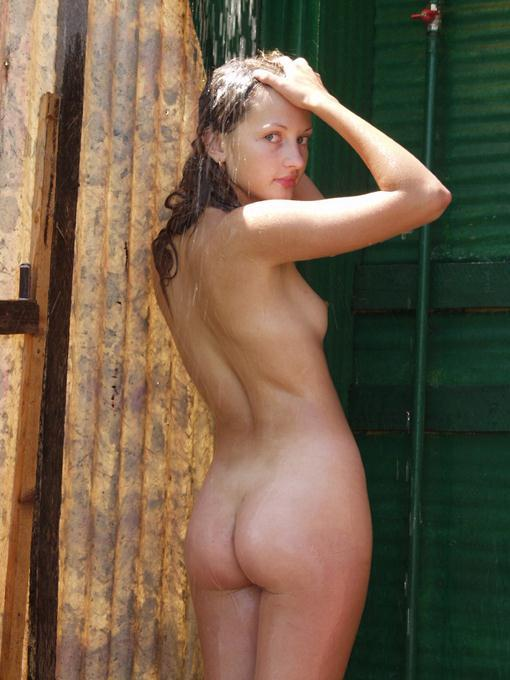 girls camping shower naked