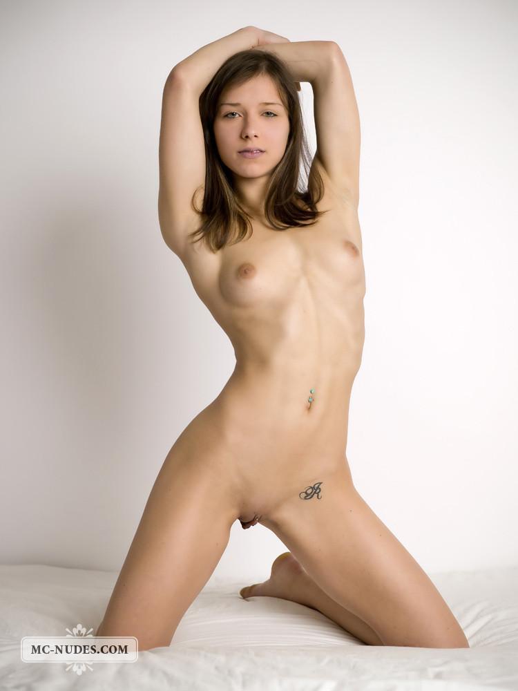Tempting nude poses of girls, satin panties anal