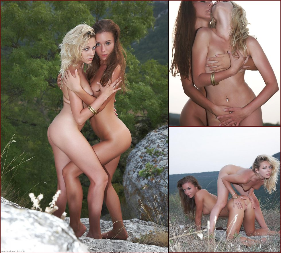 Naked girls on the hill - Oliana & Raisa - 37