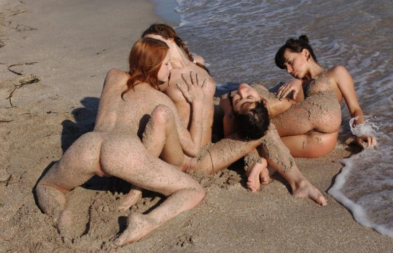 Naked girls on the beach. Part 1 - 8