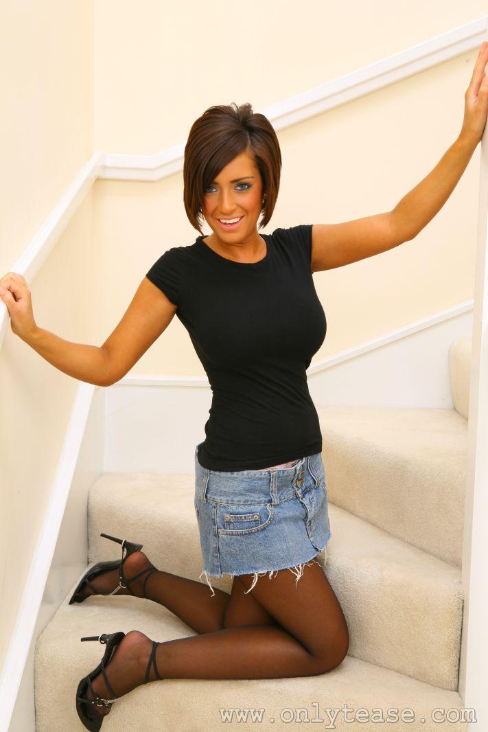 Posing hot pantyhose girl lovely