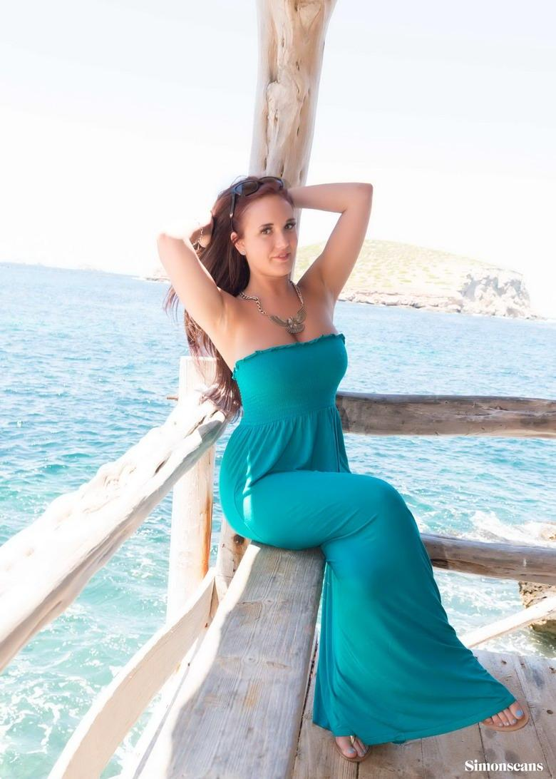 Busty Ava is posing on a pier[25P]