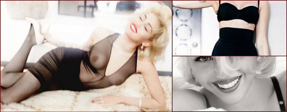 Miley Cyrus as Marilyn Monroe - 9