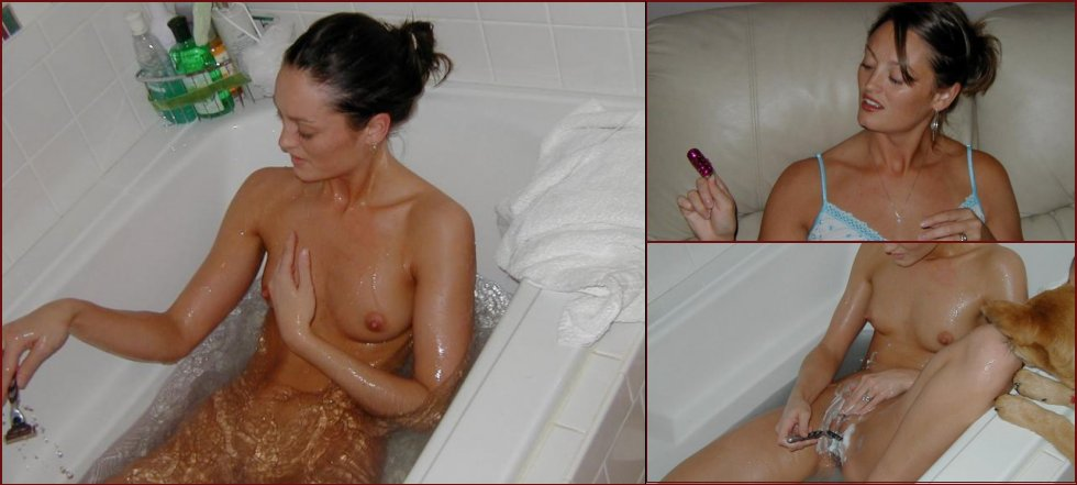 Wife is shaving pussy - 41