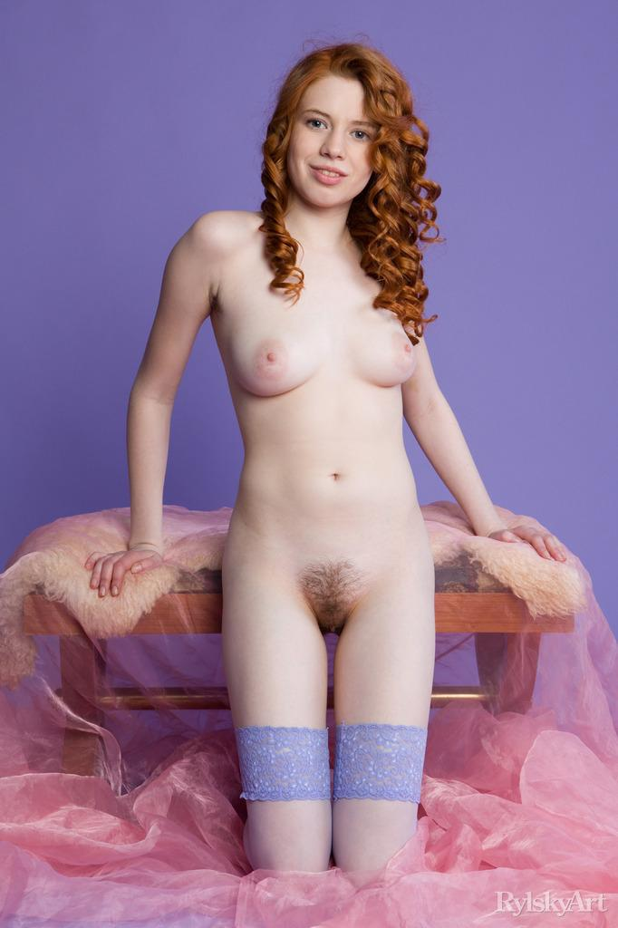 Gorgeous red haired model shows young body - Gillian - 7