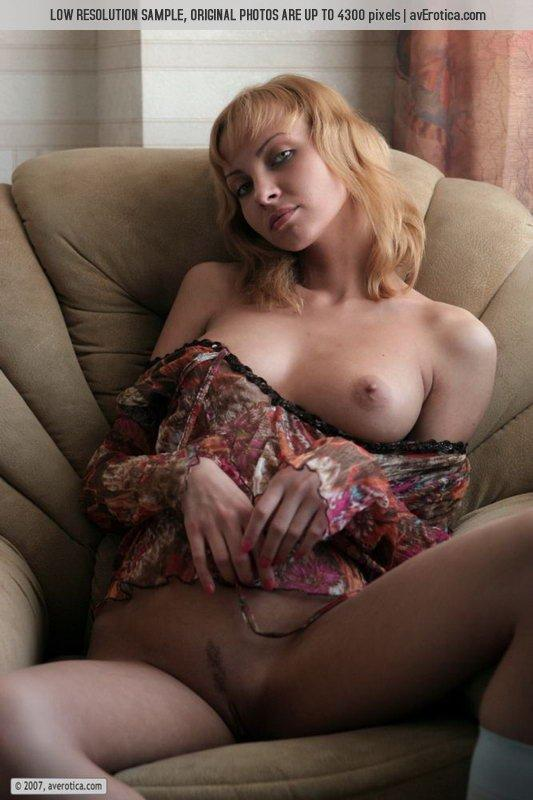 Goldie is tempting on the big armchair - 9