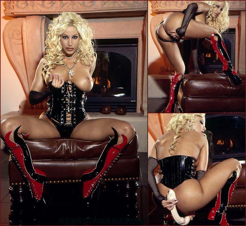 Horny Gina Lynn and her alien dildo - 72
