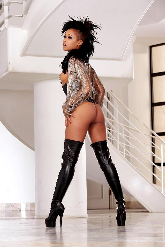 Amazing ebony named Skin Diamond - 4