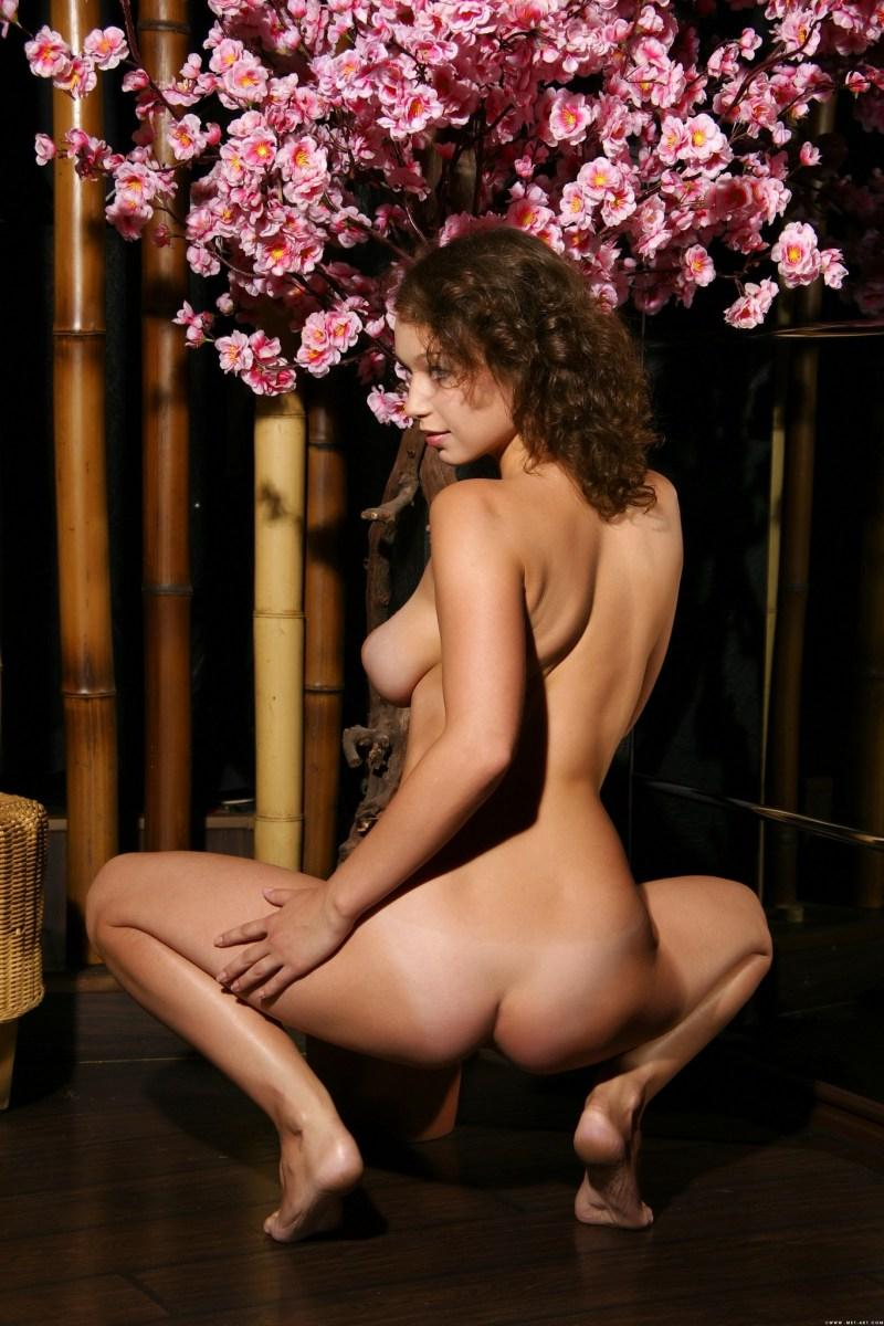 Fabulous naked girl with flower in curly hair - Veronika - 4