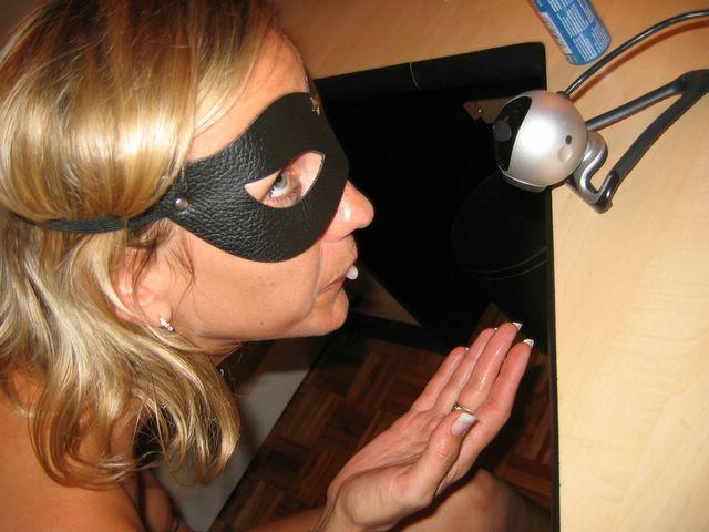 Horny wife in the mask - 2