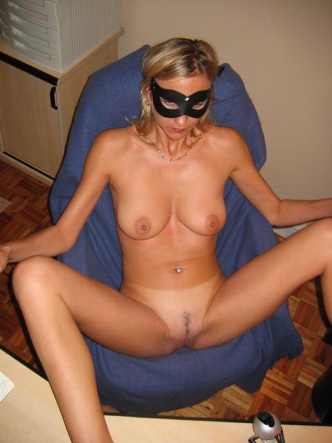 Horny wife in the mask - 3