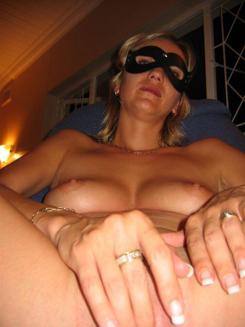 Horny wife in the mask - 5