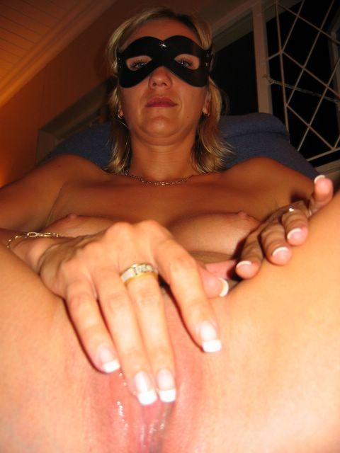 Horny wife in the mask - 6