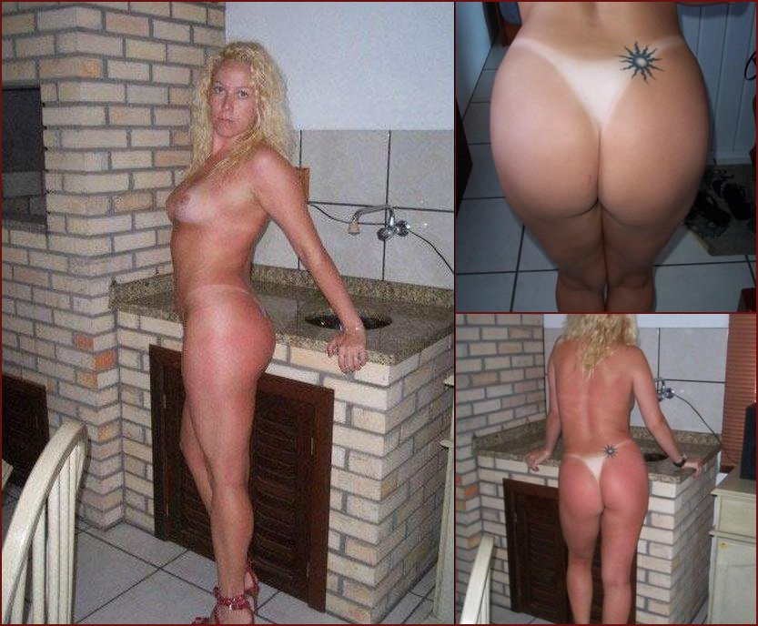 Naked wife with blonde curly hair - 44