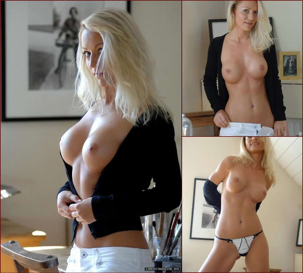 Blonde Ivana is showing her amazing boobs - 44