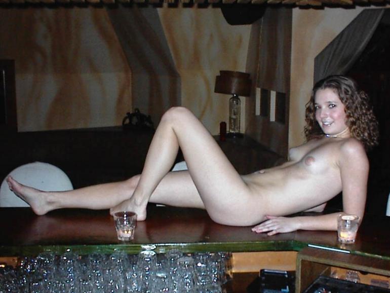 Naked girl Young bar