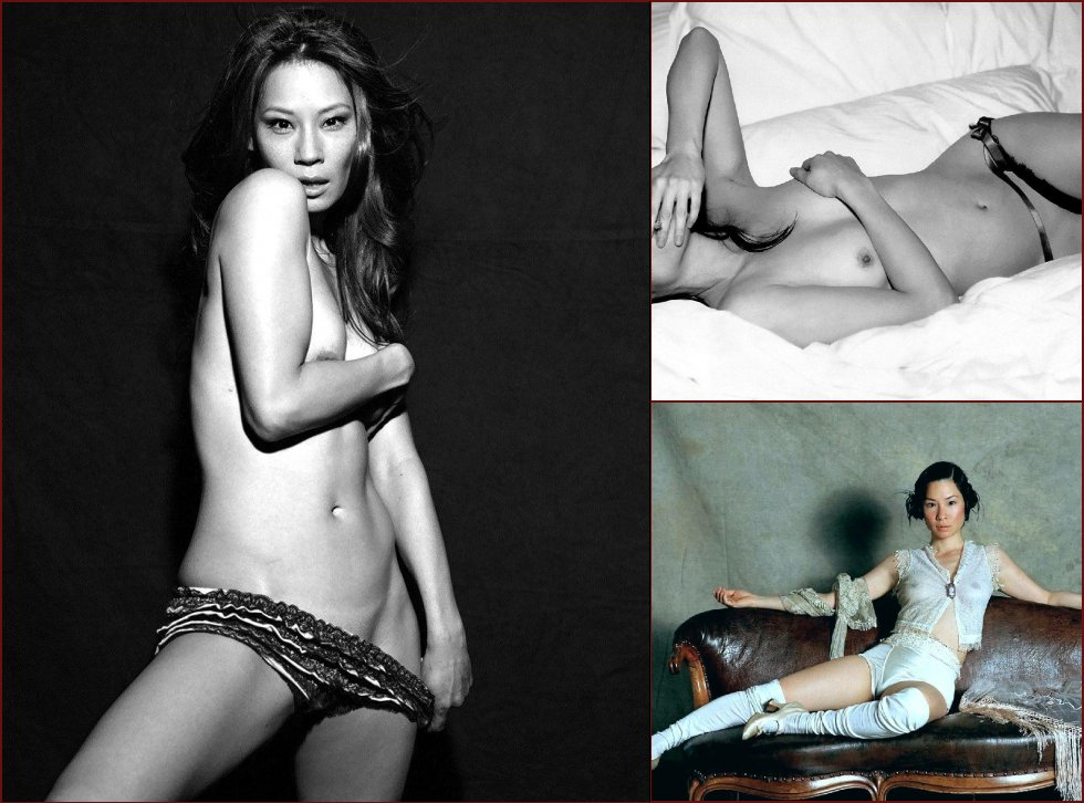 Naked session with Lucy Liu - 35