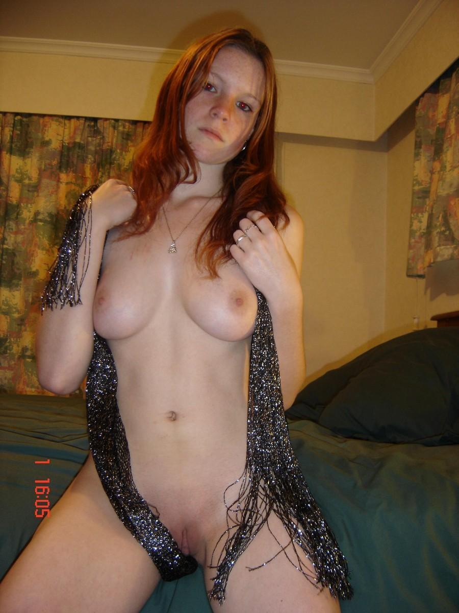 Amateur chick is playing with herself - 1